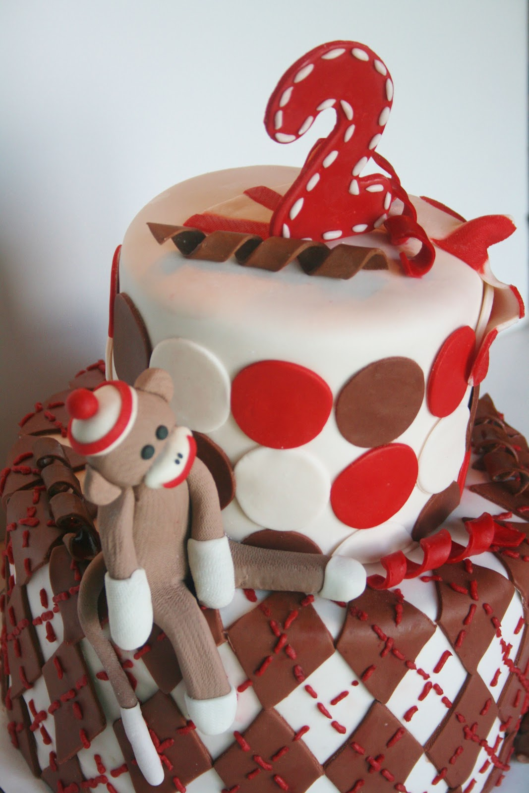 And Everything Sweet Sock Monkey Cake
