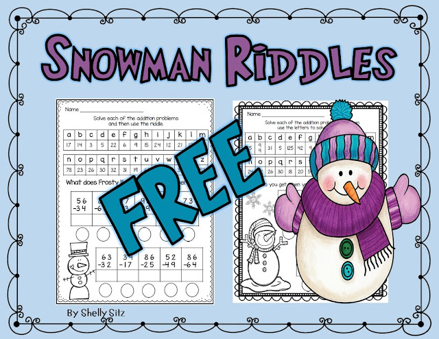 Smiling And Shining In Second Grade Snowman Activities And Freebies