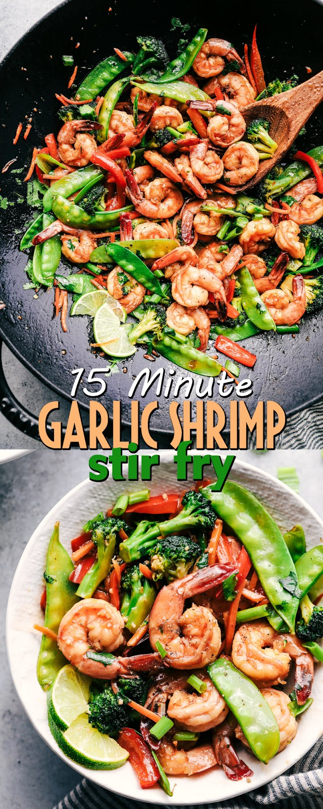 15 MINUTE GARLIC SHRIMP STIR FRY