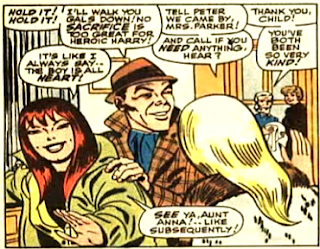 Amazing Spider-Man #49, john romita, mary jane watson, gwen stacy and harry osborn leave after visiting the sick peter parker
