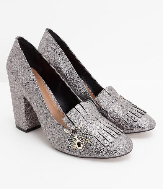 Sapato metalizado (prata)