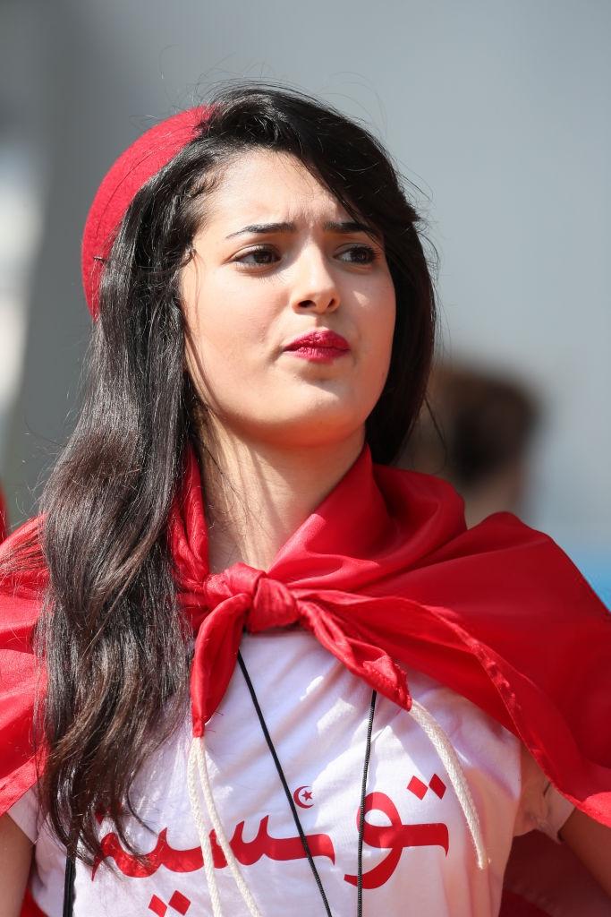 Hot Sexy Tunisian Girls During Tunisia Vs Belgium Match Group G Photos Fifa 2018