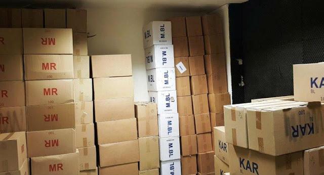 281.443 πακέτα κατασχέθηκαν σε μεγάλη επιχειρηση της αστυνομίας