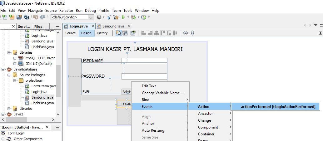 Membuat Program Login Sederhana Di Java Netbeans