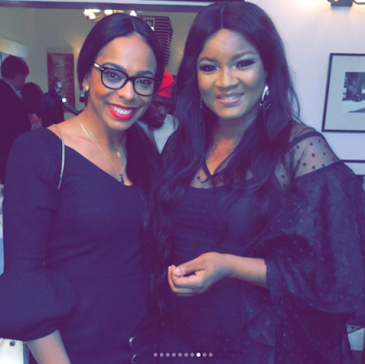 EX BBN Housemate, Tboss pictured at the US consulate with Omotola, Stephanie Linus, Bovi, Iyanya and Falz