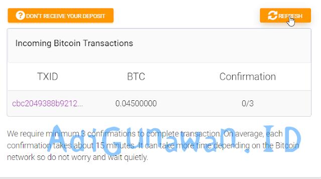 Cara Deposit Bitcoin ke Ethconnect (ECH)