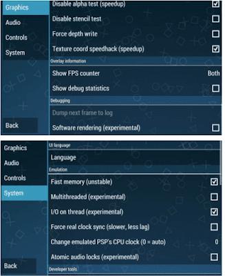 Cara Setting Emulator PPSSPP agar Tidak Leg Saat bermain game