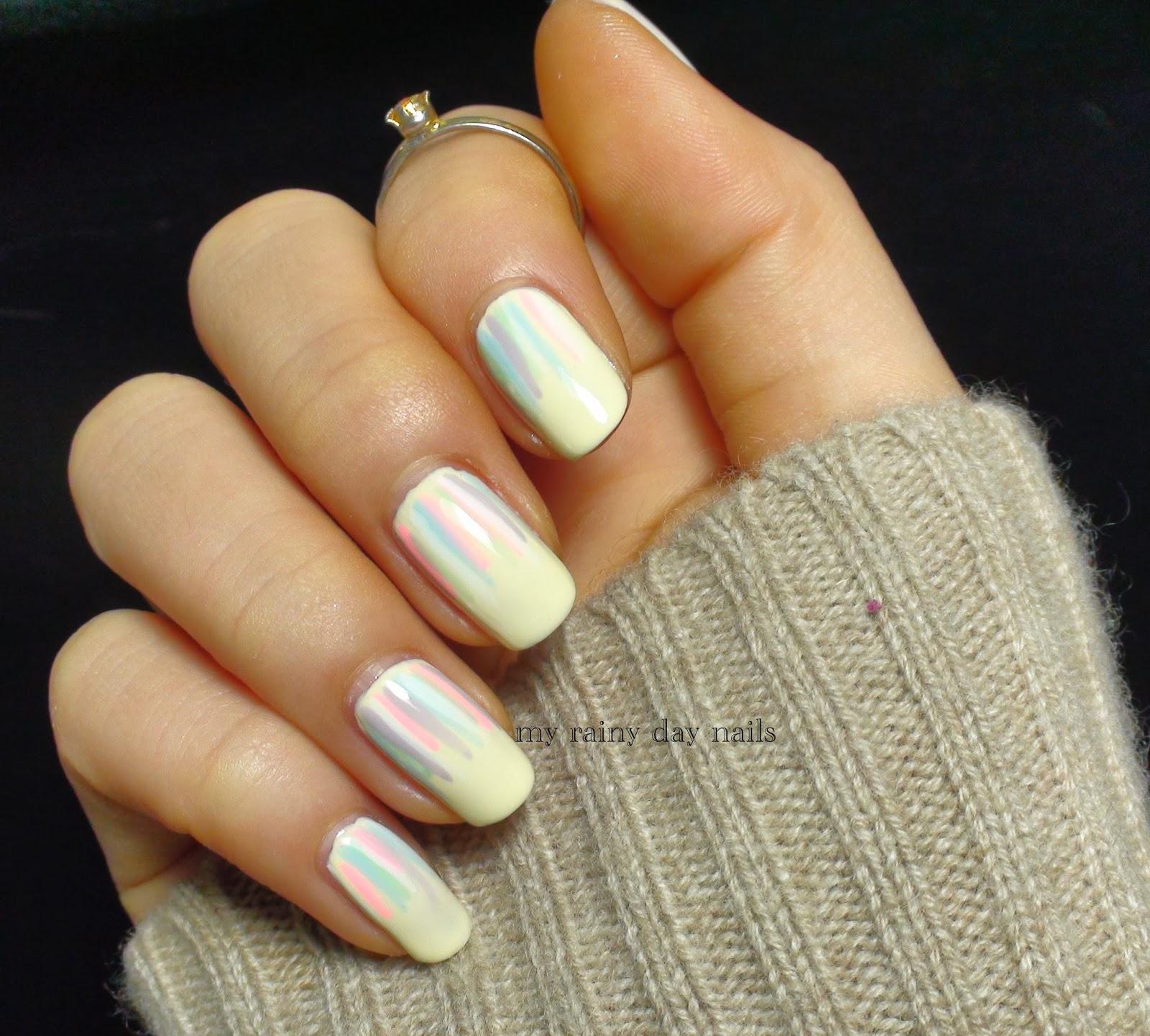 Nail Art February Challenge: My Rainy Day Nails: Nail Art Feb Challenge- Pastel