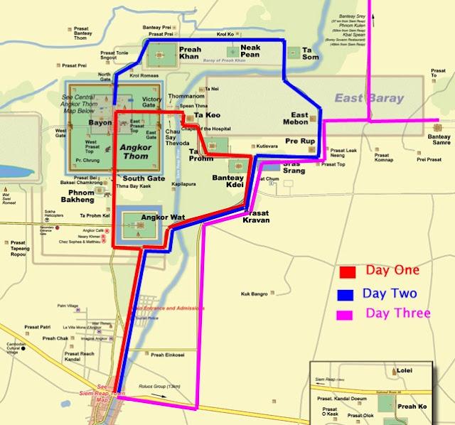 Ruta de 1, 2 o 3 días en los templos de Angkor - Camboya