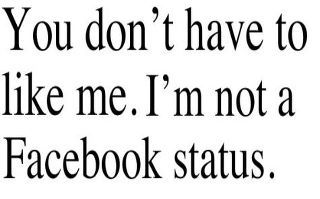sarcastic facebook statuses