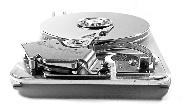 Computer disk inside