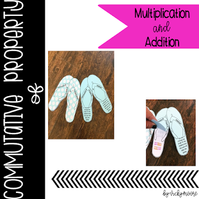 commutative property of addition, commutative property of multiplication dice games, craft and printables