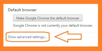 Chrome Advance Options