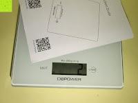 wiegen: DBPOWER® Digitale Küchenwaage, Multifunktionsküche-Nahrungsmittelskala Messen, 11 £ / 5kg High Precision Berührungsbildschirm, Hartglas, Weiß