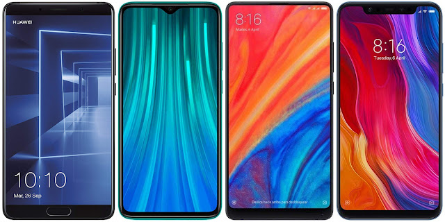 Huawei Mate 10 vs Xiaomi Redmi Note 8 Pro vs Xiaomi Mi Mix 2s vs Xiaomi Mi 8