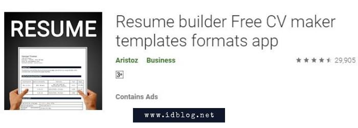 Resume Builder Free CV Maker Templates Format App