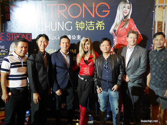 One for the album, Jessie Chung with VIPs and entertainment industry leaders
