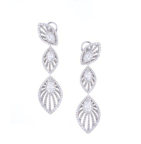 Entice leaf inspired diamond earrings