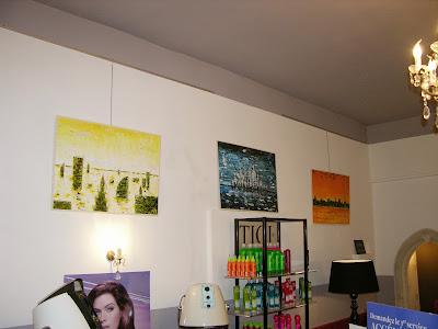 Quelques œuvres de Pierre Georges exposées au Studio 54.