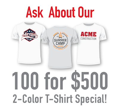 custom t-shirt design and printing in mesa, gilbert Arizona AZ - shirt special