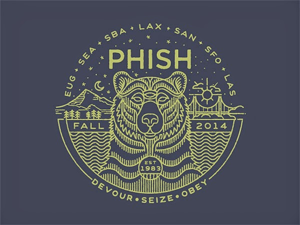 Inspirasi Desain Line Art - PHISH FALL TOUR SHIRT BY BRIAN STEELY