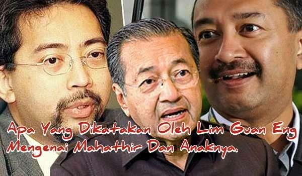 [Video] Apa Yang Dikatakan Oleh Lim Guan Eng Mengenai Mahathir Dan Anaknya