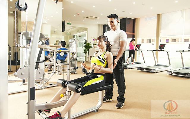 Khu tập gym, spa với các trang thiết bị hiện đại