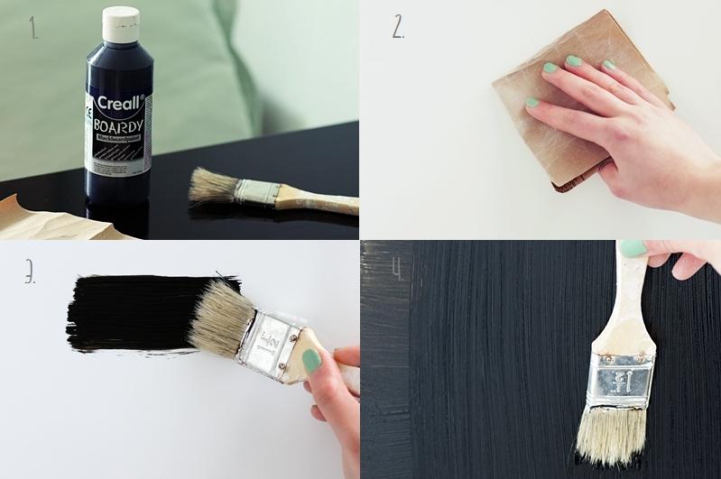 DIY Anleitung Kühlschrank mit Creall Boardy Tafelfarbe bemalen