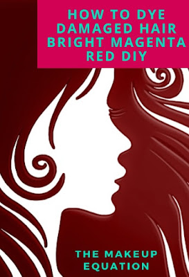 How to Dye Damaged Hair Bright Magenta Red poster