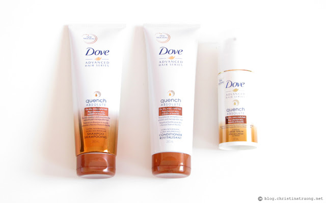 Dove Quench Absolute - For dry, wavy, curly hair. Ultra nourishing shampoo, conditioner, creme serum Review