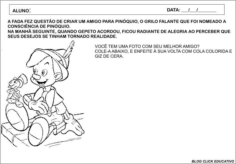 Click Educativo: CADERNO DE ATIVIDADES: PINÓQUIO