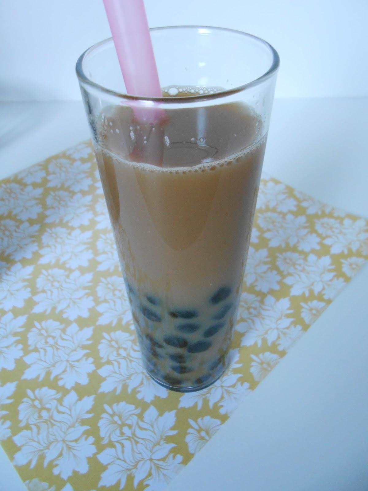 Black milk bubble tea calories