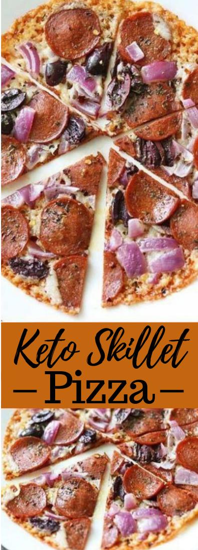 Keto Skillet Pizza #dietfood #pizza