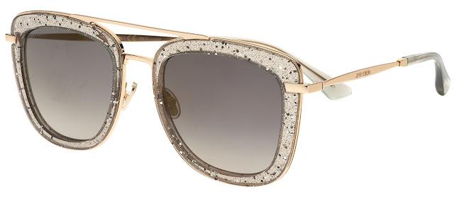 Óculos de sol Jimmy Choo Glossy s KB7FQ, cantos arredondados num formato  quadrado ... 7ff8564d56