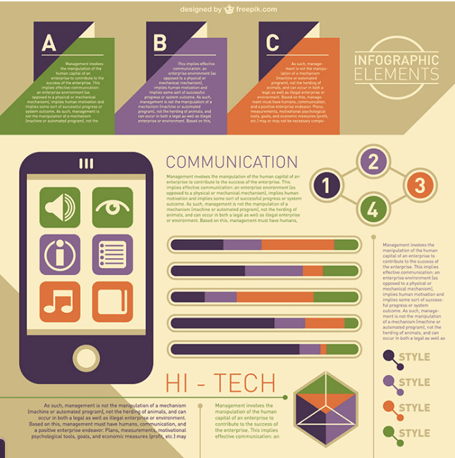 Infographic template in word