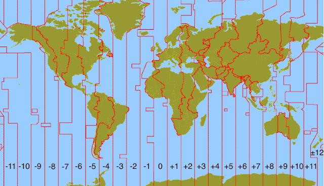 Pembagian Zona Waktu Bumi