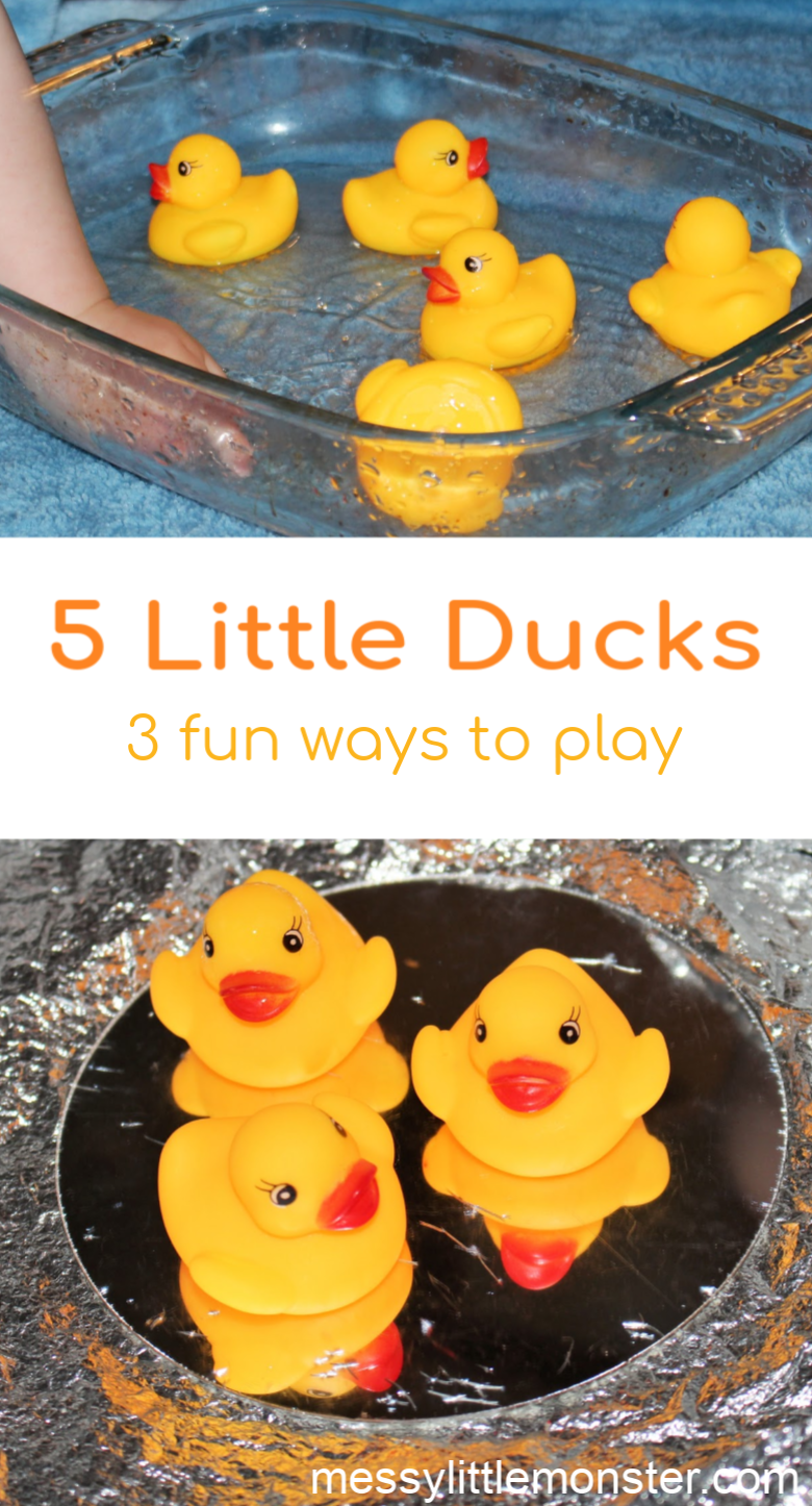 5 little ducks baby activity. Water play for babies. An easy baby activity. Sensory play for babies.