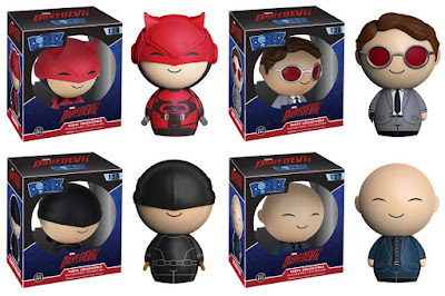 "Marvel's Daredevil TV Series Dorbz Vinyl Figures by Funko - Daredevil, Matt Murdock, ""The Kingpin"" Wilson Fisk & ""Masked Vigilante"" Daredevil"