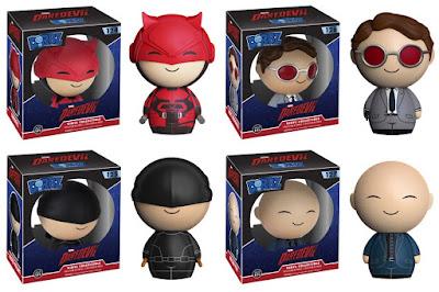 """Marvel's Daredevil TV Series Dorbz Vinyl Figures by Funko - Daredevil, Matt Murdock, """"The Kingpin"""" Wilson Fisk & """"Masked Vigilante"""" Daredevil"""
