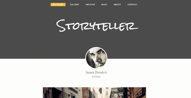 Story Teller Blogger Template