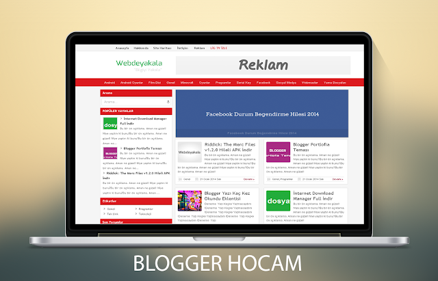 Blogger marksoe  Blog Teması