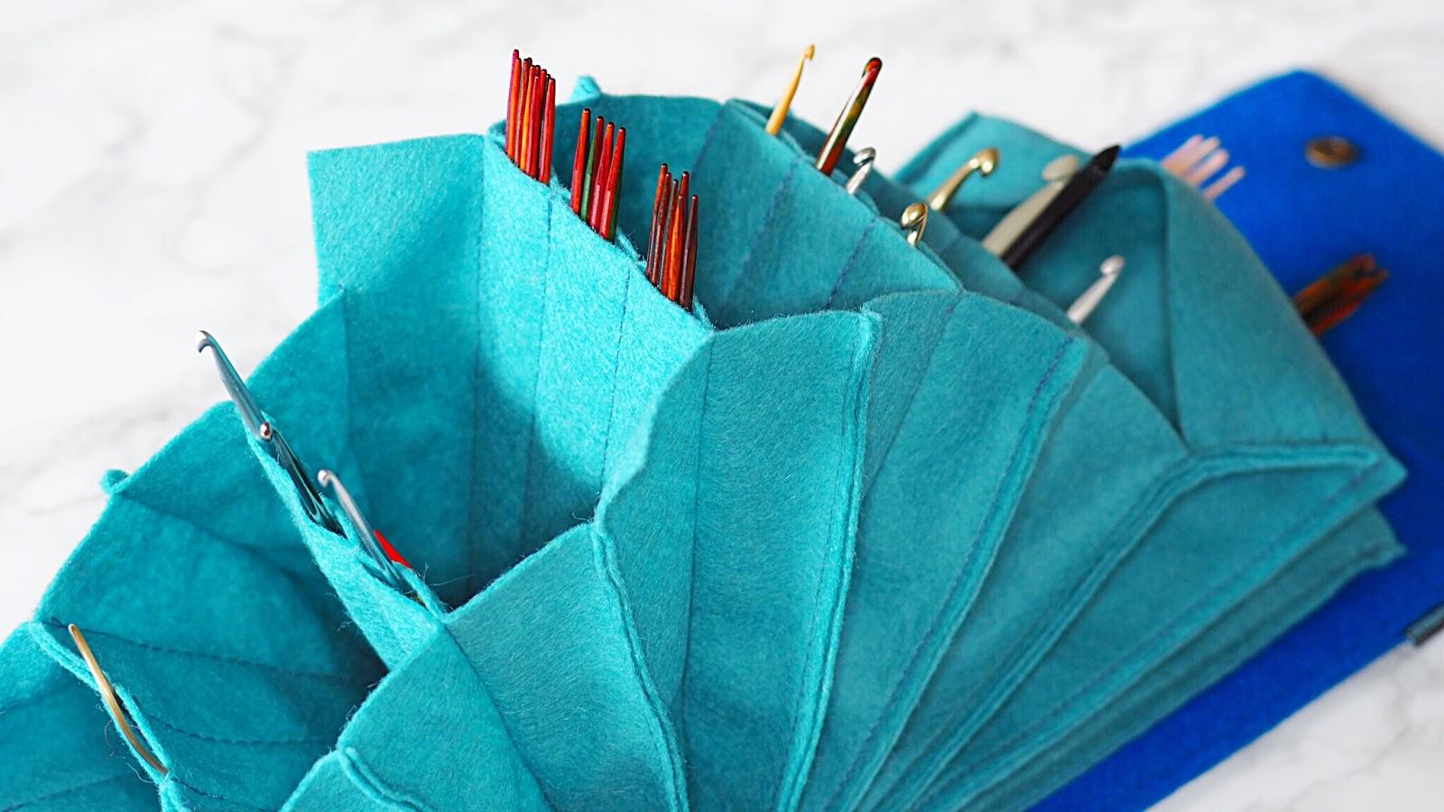 Zieharmonikaeffekt bei Bodolinas Nadelspieltaschen für Stricknadeln