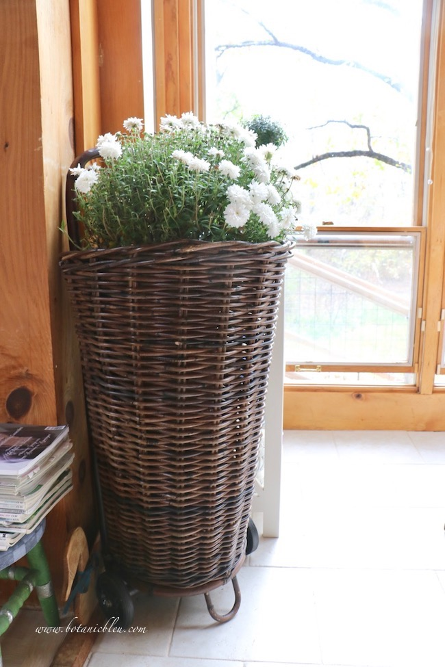 French gardener gift guide includes French market flower baskets for flowers groceries laundry