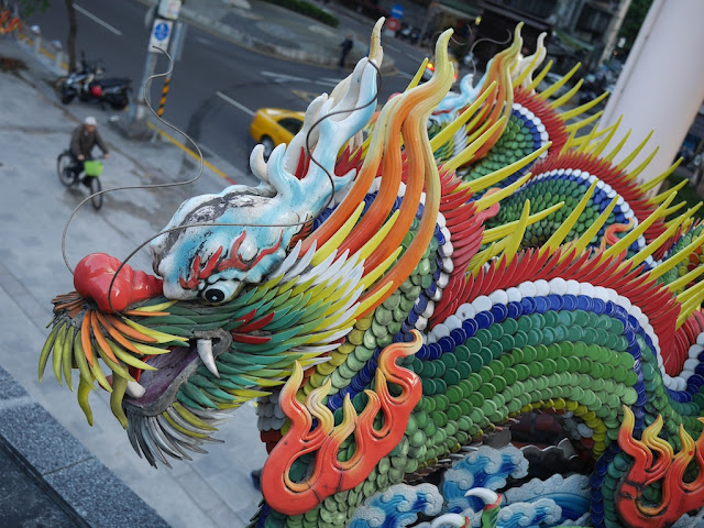 colorful dragon at a temple