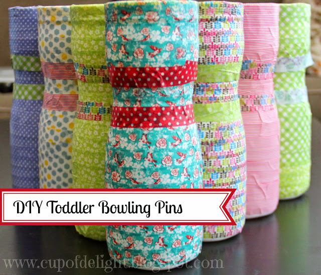 http://cupofdelight.blogspot.com/2014/09/toddler-bowling-pin-game-from-recycled.html