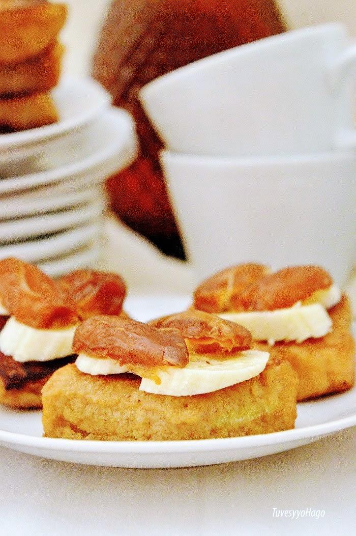 Mini Tostadas Francesas de Dátiles y Plátanos - TuvesyyoHago