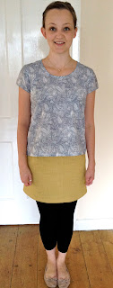 Grainline Studio Scout Tee sewing pattern Liberty Tana Lawn feathers chainstitcher
