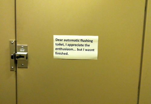 Caution Kids Bathroom Sign