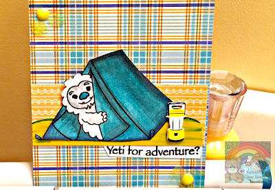 Yeti Camping Card (Craftin Desert Diva's guest DT project 4 of 4)