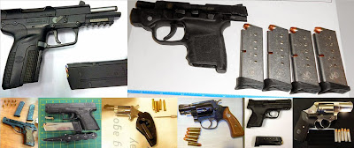 Left to Right, Top to Bottom: Firearms Discovered at ATL, HOU, ATL, CAK, MIA, MAF, PGV, SDF